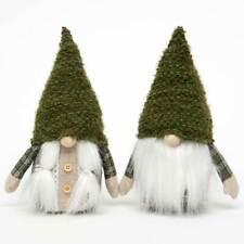 "MeraVic Large (9.75"" Tall) Pair of Green Garden Gnomes - Boy & Girl"