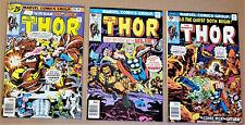 THOR #250, 253, 255 (Marvel 1976) High Grades