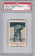 1951 Laval Dairy Lac St. Jean Hockey Card #34 M-A Tremblay Graded PSA 7