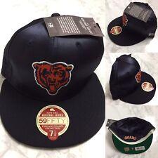 Chicago Bears New Era 59 fifty Nfl Gorra De Colección Legado tamaño 7 1 4  Sombrero Azul Marino b5b2b7facb6