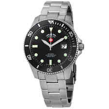 Swiss Military Invincible Black Dial Men's Automatic Watch