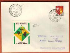 1964-Lettre Quinzaine Arts Ménagers Toulouse+Vignette Destination Toulouse-Avon