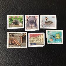 Lot de 6 timbres de Suisse années diverses - Sur Fragment - Briefmarken F98
