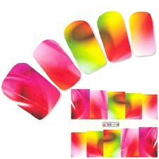 Nagel Sticker Art Phantasie bunte Farben Nail Art Nägel Fuß Water Decal