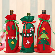3 X Christmas Wine Bottle Holder Cover Gift Presents Novelty Table Xmas Bags