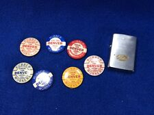 Vintage Gates Rubber Co. Union Pins And Zippo Lighter