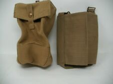 Vintage WW2 1940 WEB BRITISH AMMO POUCH  & 1944 MECO WATER BOTTLE CARRIER