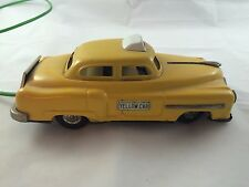 Vintage Tin Battery Op Remote Control Yellow Cab Taxi, LINEMAR Japan