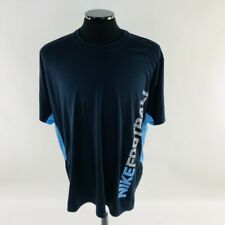 NIKE SPEED FLY FOOTBALL TRAINING SHORT SLEEVE SHIRT BLUE MENS SIZE XXL 424109