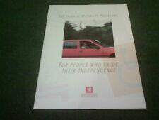 Oct 1988 1989 VAUXHALL MOTABILITY PROGRAMME BROCHURE Nova Astra Cavalier Belmont