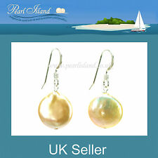 Hook Freshwater Stone Sterling Silver Fine Pearl Earrings