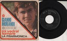 GIANNI MORANDI  disco 45 LA FISARMONICA + MI VEDRAI TORNARE Ennio Morricone