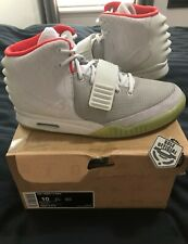 d828814b71993 Nike Air Yeezy 2 NRG Wolf Grey Pure Platinum DS sz 10 solar red october  boost