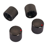 4pcs Iron Volume Tone Knobs Black for Electric Guitar Replacement Parts