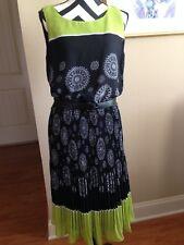 Bethany Shirt Dress Size 12 Sleeveless Black Floral Polyester D-267