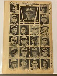 1937 CINCINNATI REDS Who's Who TEAM PHOTO Autographed