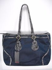 NWT TUMI BELLEVUE COTTAGE ZIP TOTE 73246NVY NYLON  LEATHER SHOULDER TRAVEL BAG