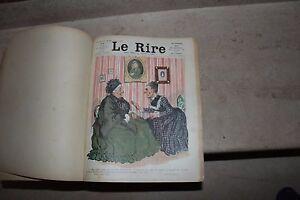 revue le rire 1er semestre 1904 du n°48 au 73 (relié) journal humoristique