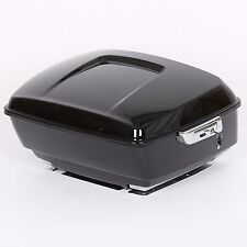 Black Harley Tour pak pack trunk for 2014-2017 touring Road King Electra glide