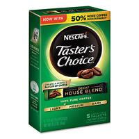 Nescafé Taster's Choice Decaf House Blend Instant Coffee 0.1oz Stick 5/Box 12 Bx