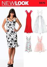 Nuevo aspecto patrón de costura Misses Dress & Desmontable sobrefalda Tallas 8 - 18 6670