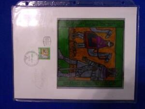 ISRAEL STAMP ART WORK/PROOF SIGNED STAMP DESIGNER A CALDERON M PEREG
