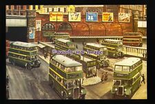 tm6635 - Buses leave Salford City Bus Station - Artist - G.S.Cooper - postcard