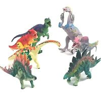 "7 Dinosaur Action Figures Toys Lot, 3""-5 inch Average Size Some Legs & Jaws Move"