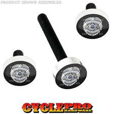 Windshield Bolt Kit for 14-Up Harley Electra & Street POLICE BADGE BLUE LINE 077