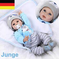 55cm reborn Baby Puppe Lebensecht Handgefertigt Weich Silikon-Vinyl Junge