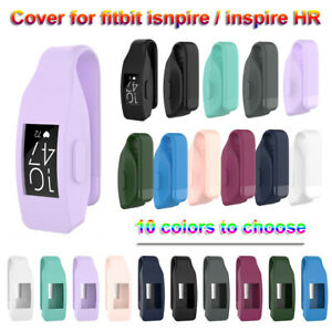Metal Clip Silicone Cover Watch Case Holder For Fitbit Inspire / Inspire HR