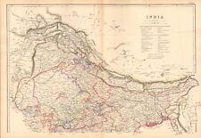 1859 Large Antique Map - J&C Walker - India North & South, 2 Sheets, Pegu,Strai