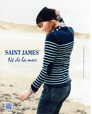 Publicité Advertising 127  2012   pulls l tricots  Saint James  pull marée