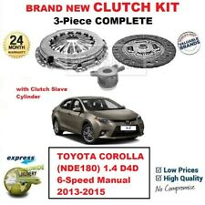 FOR TOYOTA COROLLA NDE180 1.4 D4D 6-Sp Manual 2013-2015 NEW 3PC CLUTCH KIT + CSC