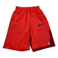 Nike Shorts Youth Large Black Orange DriFit Elite Basketball Athletic Kids Boys