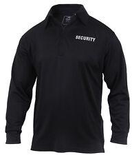 Long Sleeve Polo Security Uniform Shirt Moisture Wicking Fabric Rothco 2716