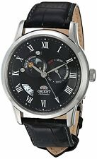 Orient FET0T002B Men's Sun and Moon Multifunction Leather Band Automatic Watch
