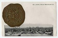 Harbour ST JOHN NB Canada 1901-07 McCoy Champlain-De Monts Patriotic Postcard