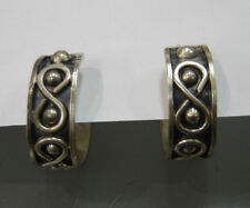 Design Made In Mexico 367-F 925 Sterling Silver Earrings with Infinity