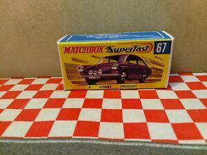 Matchbox Lesney Superfast Volkswagen 1600TL No67 EMPTY REPRO BOX ONLY NO CAR
