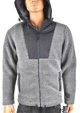 American Rag Cie Mens Gray Black Jacket New L Fleece Hooded Winter jacket