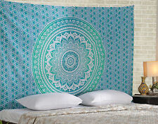 Twin Ombre Mandala Indian Tapestry Hippie Wall Hanging Throw Cotton Bedspread