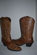 ARIAT WOMENS SZ 7 B WESTERN BOOTS ROUND UP WINGTIP  SNIP TOE SANDSTORM 10015290