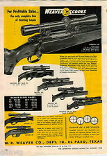 1956 ADVERT Weaver Rifle Gun Scope K10 KV K8 K4