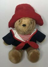 "Vintage Sears Kids Gifts Paddington Stuffed Plush Bear Nautical Sailor Shirt 15"""