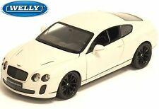 Spedizione LAMPO Bentley Continental Supersports GRIGIO//GREY Welly Modello 1:24 NUOVO