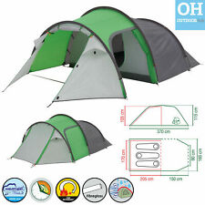 Coleman Cortes Tent 3  Man Berth Camping Holiday Tunnel Festival Party Hiking