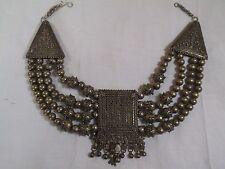 Antique Yemenite Bedouin Tribal Coin Silver Necklace-Filigree Bead-Shot Balls -j