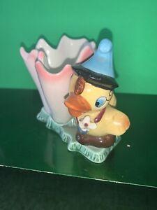 Vintage Ceramic Porcelain Duck Flower And Planter Vase Easter Planter
