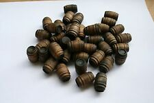 80 - Stained wooden Barrels for Lionel & other model train layouts. Dark Walnut